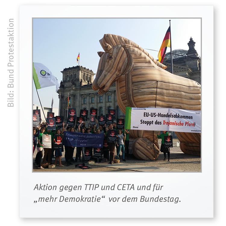 Bund TTIP Pressefoto