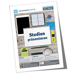 Cover Verbandsstratege 07/2015, Studien präsentieren