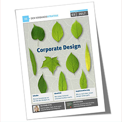 Verbandsstratege, Cover, Corporate Design