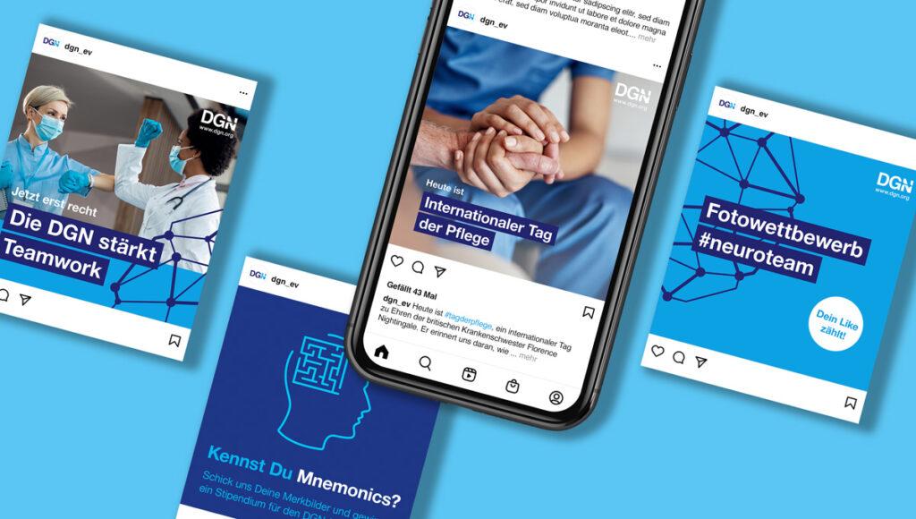 Die DGN auf Social Media: informativ und selbstbewusst